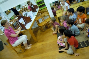 Preschool kamishibai visit
