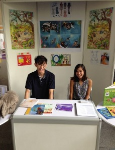 Hardworking volunteers at the SCBWI desk