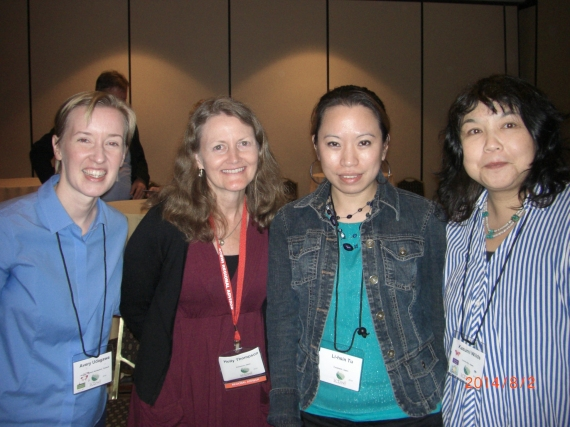 Avery Fischer Udagawa, SCBWI Japan Regional Advisor Holly Thompson, Writer Li-Hsin Tu, Illustrator Kazumi Wilds