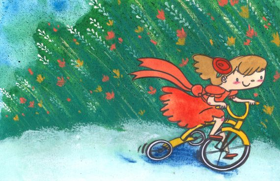 """""""Feisty Tricycle"""" by Marsha Riti"""
