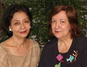 Minae Mizumura, author of A True Novel, and translator Juliet Winters Carpenter