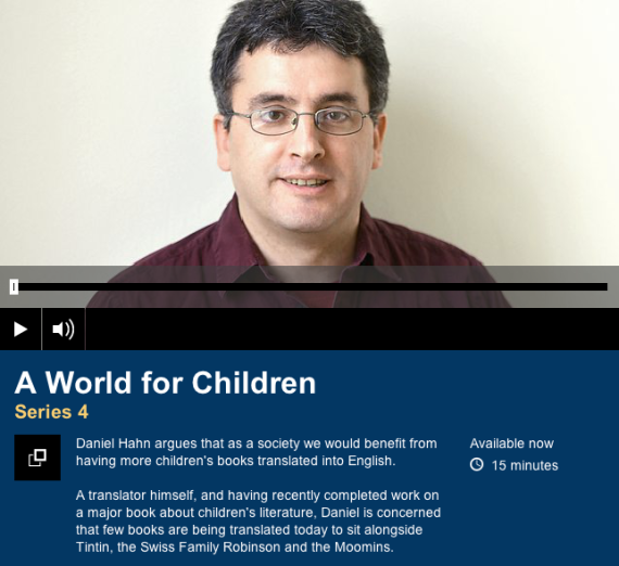 Translator Daniel Hahn on BBC Radio 4