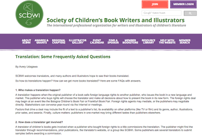 SCBWI FAQ article