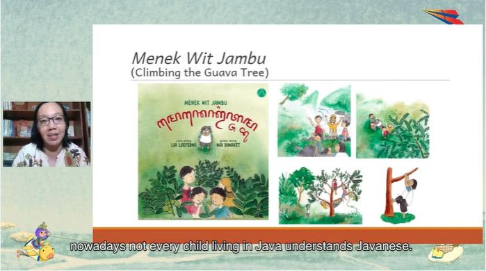 Screenshot by Andrew Wong of bilingual book by Yulia Loekito